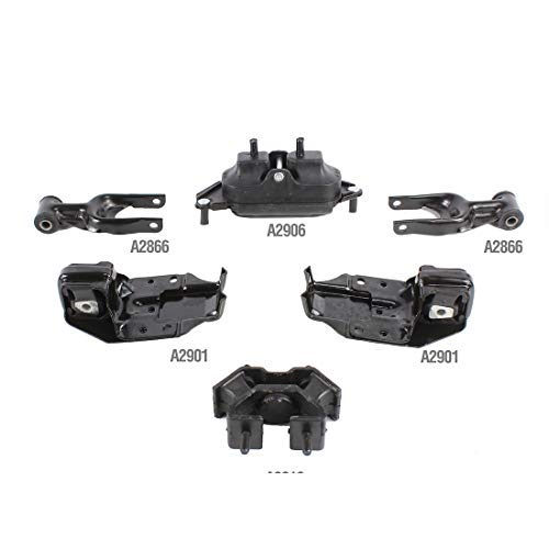 - DNJ MMK1082 Complete Engine Motor & Transmission Mount kit for 2000-2005 / Chevrolet/Impala / 3.4L / 6PCS