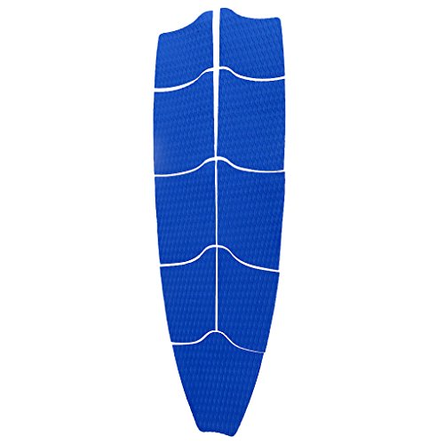 Fenteer 9 Pieces / Set Surf Longboard SUP Traction Pad Adhesive Full Deck Tail Pad for Stand Up Paddleboards and Surfboard by Fenteer