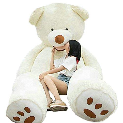 6.5 Feet Giant Teddy Bear Soft Stuffed Creamy-White 200 cm - Spiderman White Tiger Costume