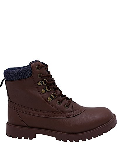 Nautica Men's Alameda Chukka Boot, Brown Smooth/Denim, 8 Medium US