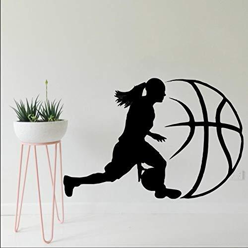 nkfrjz Baloncesto Decoración del hogar Vinilo Deportes Arte ...