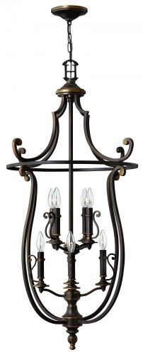 Hinkley 4258OB Traditional Eight Light Foyer from Plymouth collection in (Traditional Foyer Lights Hinkley Lighting)