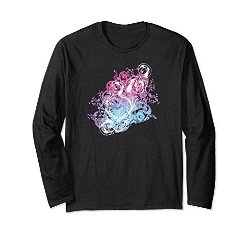 Unisex Bisexual Skull Explosion Long Sleeved Shirt Small Black (Sleeved Skull Long)