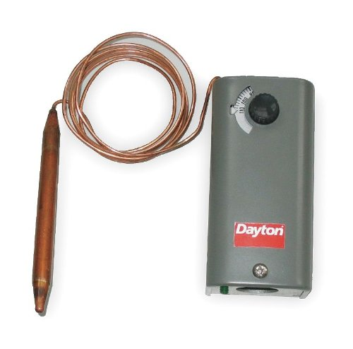 Dayton 6EDY7 Line Voltage Thermostat, Remote Bulb, SPDT ()