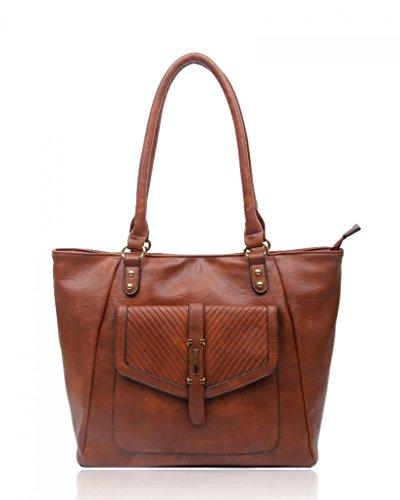 Leather Shouler Faux Celebrities 14128 BROWN CWRS14128 Ladies CWRS14114 Fashion Handbags LeahWard Desinger Quality Women's Bag qtSEE