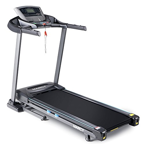 Marcy Folding Motorized Treadmill / Electric Running Machine with Auto Incline JX-663W
