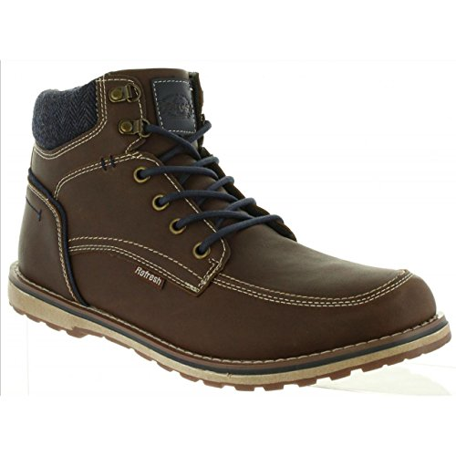Marron Homme Bottines Refresh pour C 63940 RwgdBxnq