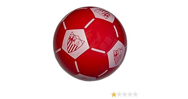 Sevilla CF Balsev Balón, Blanco/Rojo, Talla Única: Amazon.es ...