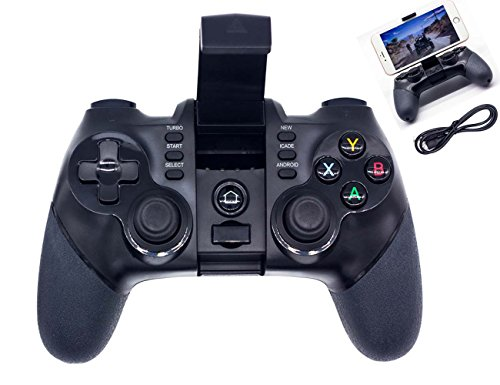 BRH Bluetooth Wireless Game Controller Gamepad for Android Smartphone, PS3, Tablet, PC Windows 7/8/10/MAC, Gear VR, TV Box (Wireless Game Controller For Pc)