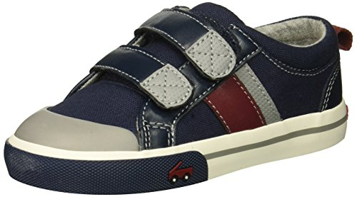 See Kai Run Boys' Russell Sneaker, Navy/Red, 7 M US ()
