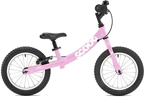 2018 US Edition Scoot XL 14'' Balance Bike in Pink (Age 4-7) by Ridgeback UK