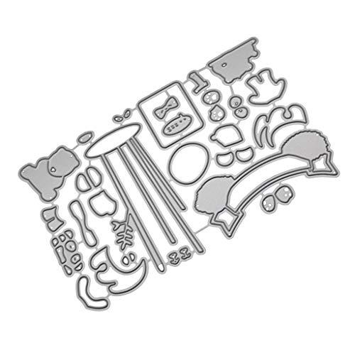 Cutting Dies,IHGTZS 2019 Father's Day DIY Photo Album Metal Die-Cut Stencils For Scrapbooking Paper Card Gift for father Metal Die-Cut Stencils For DIY Scrapbooking Photo Album Paper Card Gift