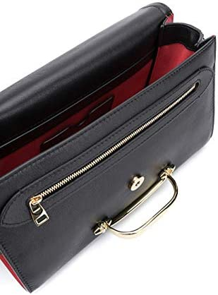 Alexander McQueen Luxury Fashion Femme 631473D78AT1050 Noir Cuir Sac Porté Épaule   Automne-hiver 20