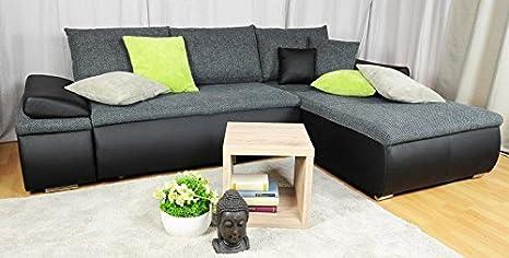 Divano Nero Ecopelle : Avanti trendstore divano in ecopelle nero ca. 268x168cm: amazon