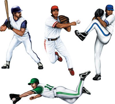 Beistle 4-Pack Baseball Cutouts, 20-Inch (Baseball Cutout)
