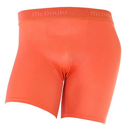 McDavid 706 Men's Deluxe Mid-Length Compression Soccer Shorts Orange Small