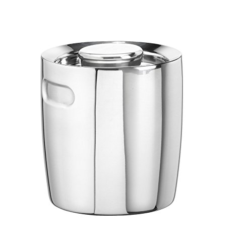 Kraftware Metals & Stainless Steel Ice Bucket, 1.5 Quart, Polished Stainless