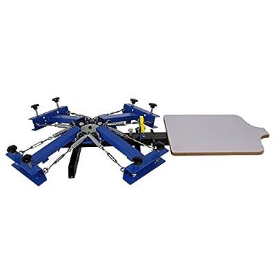 Ridgeyard 4 Color 1 Station Silk Screen Printing Press Printer DIY T-Shirt Processing Machine