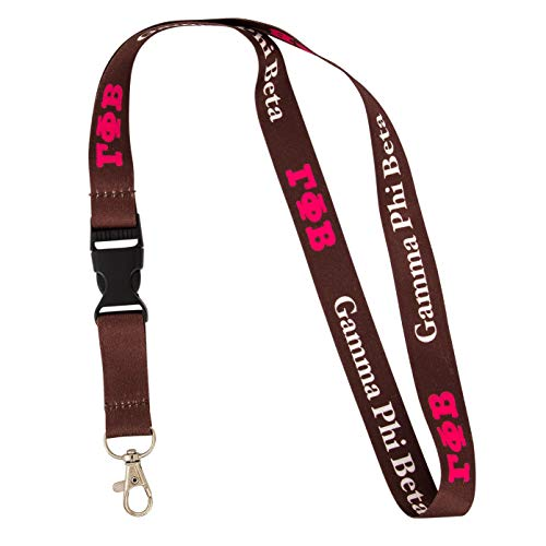 Gamma Phi Beta Sorority Letter Lanyard Greek Keychain Key Attachment Gamma phi ()