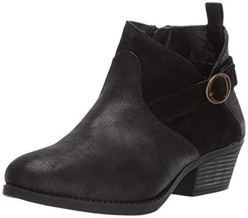 Skechers Women's Lasso-Clasp-Short Belted Bootie with Zipper Ankle Boot, Black, 8 M ()