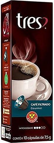 Cápsula de Café Filtrado, Gourmet, 10 Unidades, Tres, 3 Corações