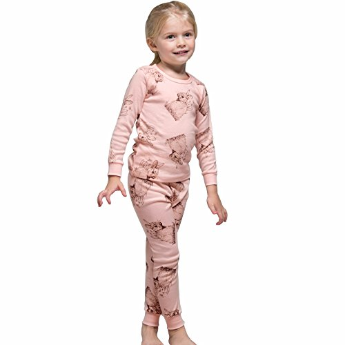 Tory bam Cotton Thermal Underwear Pajamas Set for Kids Little Boys Girls Toddler Rabbit 7-8 Years - XL