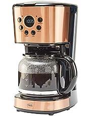 Neo 1,5 L filter kaffebryggare maskin automatisk inställning digital timer 12 koppar (koppar)