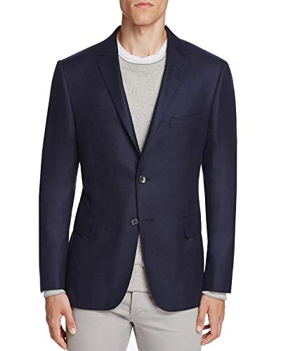 Hickey Freeman Men's Perry Cashmere Twill Slim Fit Sportcoat 40 Short 40S Navy