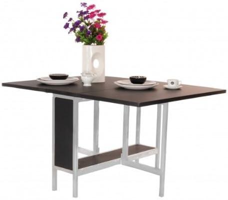 Mesa - consola/cómoda rectangular, alas abatibles, plegable ...