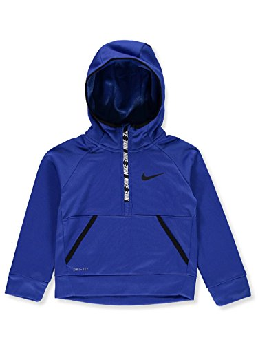 Nike Game Conquer - Nike Kids Boy's Therma 1/2 Zip Hoodie (Little Kids) Game Royal 6