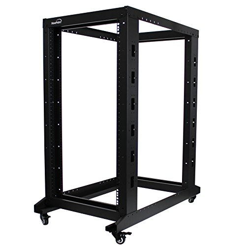 NavePoint 22U Professional 4-Post IT Open Frame Server Network Relay Rack 1000mm Casters ()