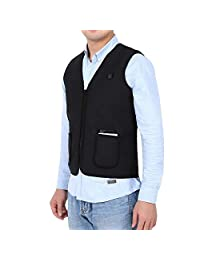 DOACT Electric Heated Vest, Lightweight Size Adjustable USB Charging Clothing