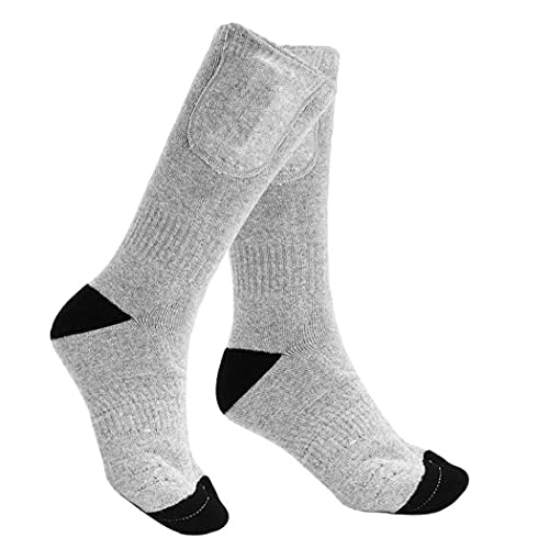 4500mah Electric Socks Rechargeable Heated Battery Powered Thermal Socks for Winter Sports Skiing Hiking Grey