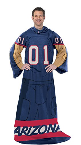 - Officially Licensed NCAA Arizona Wildcats Full Body Player Adult Comfy Throw Blanket, 48