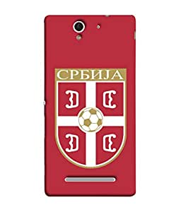 ColorKing Football Serbia 06 Red shell case cover for Sony Xperia C3