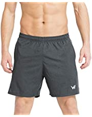 WHCREAT Men's Running Shorts with Mesh Design for Sports Gym Training