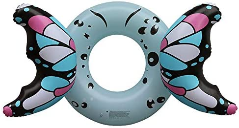 James Flotador Inflable para Adultos con Forma de Mariposa, para natación o natación, Azul, 160 * 110cm