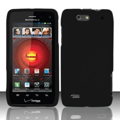 ed Snap-On Hard Skin Protector Case Cover for For (Verizon) Motorola Droid 4 XT894 - Black ()