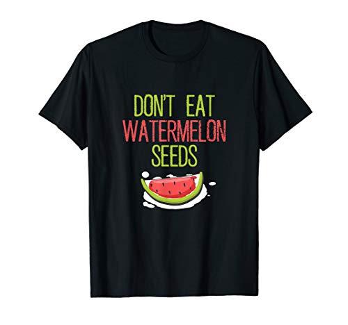 Funny Watermelon Seeds Cute Pregnant T-Shirt T-Shirt -