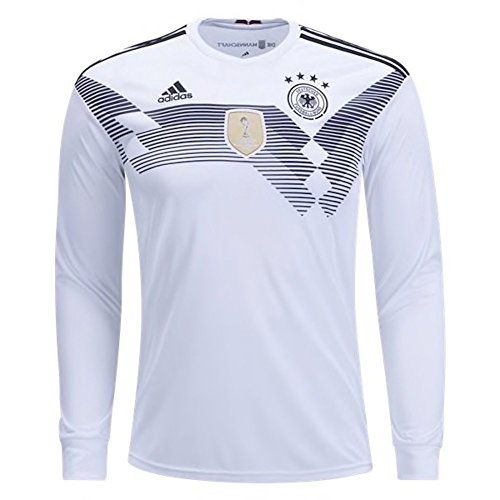 adidas Men's Soccer Germany Home Long Sleeve Jersey (National Team Woven Jacket)