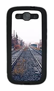 Railroad Depot Tracks Custom Design Samsung Galaxy S3 Case Cover - TPU - Black
