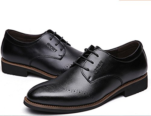 CSDM Scarpe da cuoio da uomo Scarpe da sposa scarpe da sposa casual di cuoio traspirante di grandi dimensioni , black , 43