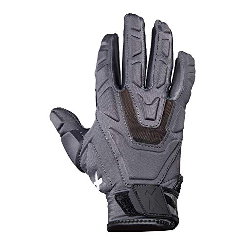 Xenith Football Youth Power Lineman Gloves (Black, Small)