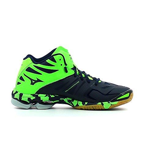 Vert Z2 weiß Herren Bleu Mizuno Volleyballschuhe Wave Mid grün Blanc Lightning schwarz wBxaqS