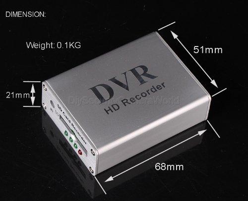Mini DVR 1CH VIDEO 1CH AUDIO Realtime SD Card Video Recorder DVR For CCTV Camera, support 32GB SD Card