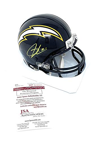 LaDainian Tomlinson San Diego Chargers Signed Autograph Mini Helmet GTSM Player Hologram JSA Witnessed Certified