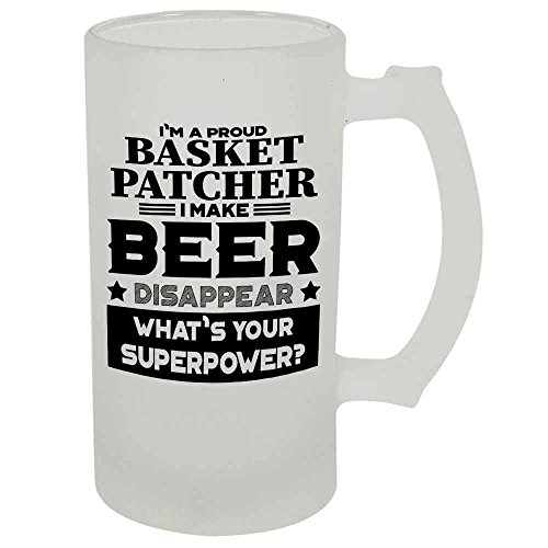 Basket Patcher Beer Mug 22 OZ Frosted Matte Finish Premium Quality By HOM Gift For Basket Patcher Friend Office Colleague Co-Worker Friend Buddy Present for Beer Lover Him Her Friend Uncle