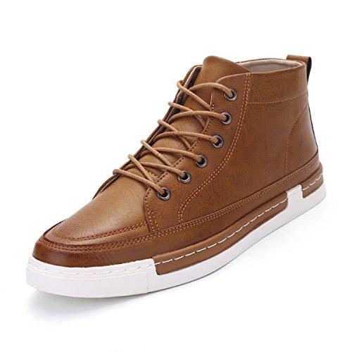 Herbst Und Winter Lederstiefel Britischer Stil Martin Stiefel Lässig Stiefel Mode Männer Stiefel Brown
