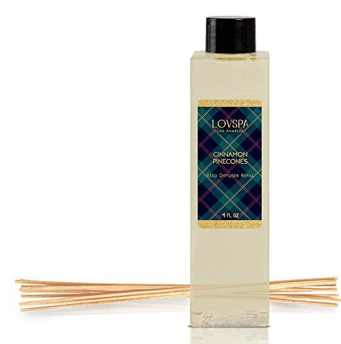 LOVSPA Cinnamon Pinecones Reed Diffuser Oil Refill with Replacement Reed Sticks Fragrances | Woody Pinecones, Fir Needles Cinnamon & Cloves | Replenish You Existing Scent Diffuser by LOVSPA (Image #3)