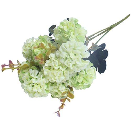 1 Bunch European Artificial Flower Fake 10 Heads Hydrangea Bouquet Wedding Arrangement Christmas Home Decoration (Hydrangea Artificial Arrangement)